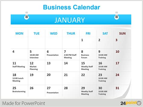 Using Powerpoint Calendars As A Time Management Tool Calendar Template For Powerpoint