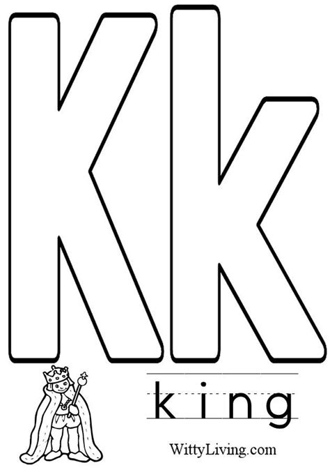 coloring pages with letter k coloring pages letter k kids crafts for kids to make