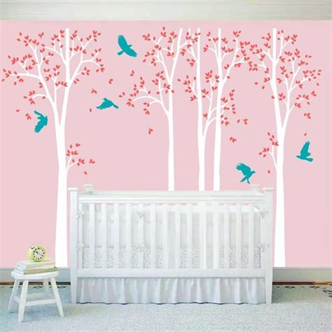 huge white tree wall decal vinyl stickers birds