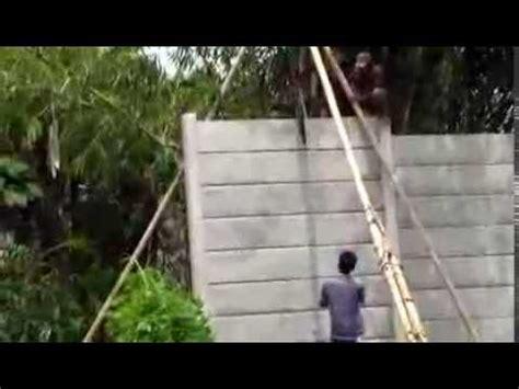 Jual Cetakan Batako Manual Tangerang pembuatan panel precast pagar doovi