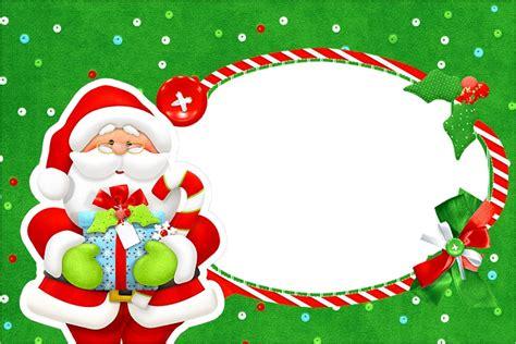 imagenes de santa claus infantiles tarjetas de navidad para imprimir y personalizar