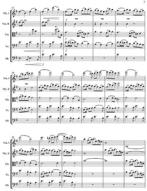 minor swing sheet music violin sheet music for string orchestra movement in e minor