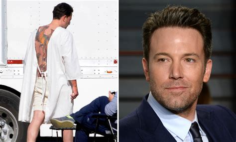 ben affleck tattoos ben affleck s back batman actor reveals
