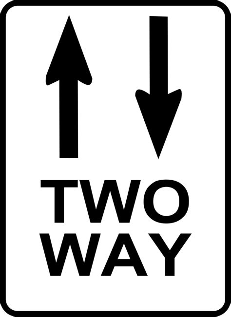 OnlineLabels Clip Art - Two Way Sign