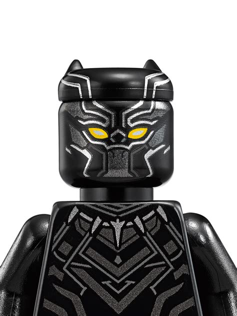 Lego Minifigure Black Panther black panther characters dc comics heroes lego