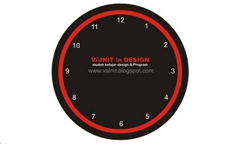 desain jam dinding dengan coreldraw cara design jam dinding dengan corel draw vainit in design