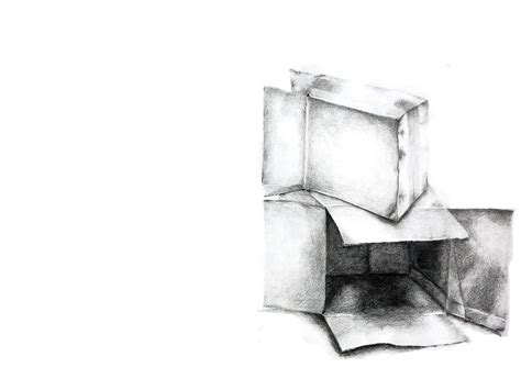 when i doodle i draw boxes cardboard box direct observational drawing by