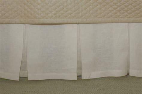 gish linen box pleat bed skirt
