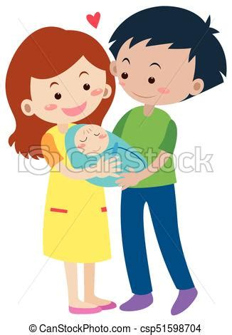 clipart famiglia bambino neonato genitori famiglia bambino neonato