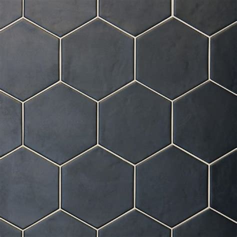 Hexagon Studio Black 17.5 cm x 20 cm   Industrial Tiles