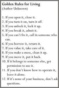 12 golden rules for living