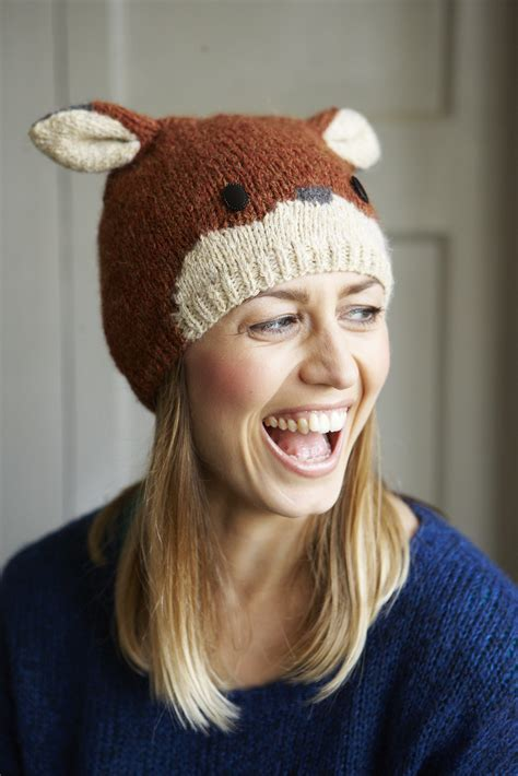 fox knit hat fox beanie hat 183 extract from animal hats by