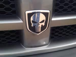 Dodge Ram Grille Emblem Mopar Or Punisher Logo On Front Grill And Rear Trunk