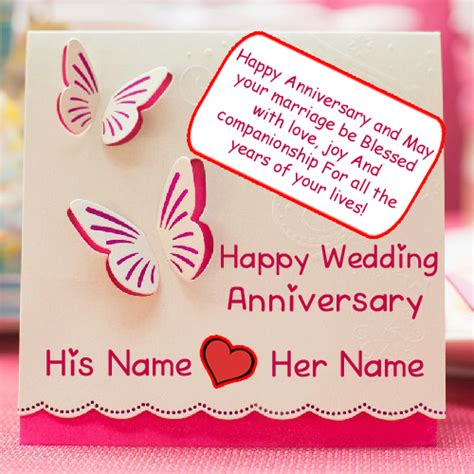 Wedding Anniversary Wishes Card With Name Edit by Unique Wedding Anniversary Card Names Wishes Profile Pics