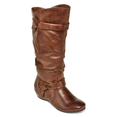 yuu seldom slouch boots jcpenney fashion