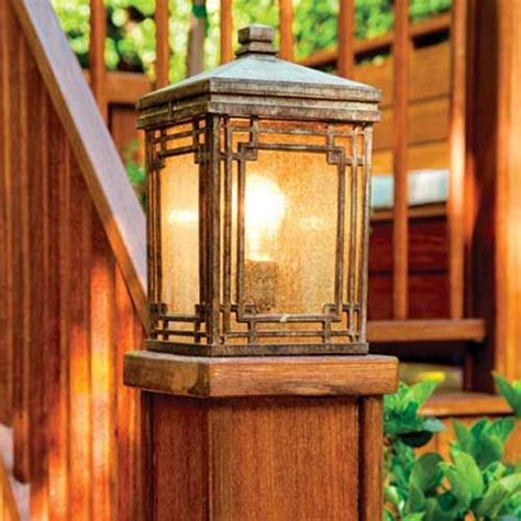 Outdoor Deck Post Lighting You Can Dress Up An Otherwise Simple Deck Design With Decorative Rail Or Post Cap Lights Deck