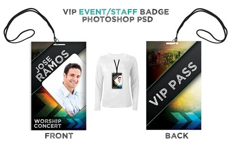 Vip Id Card Template by Press Pass Vip All Access Pass Card Templates
