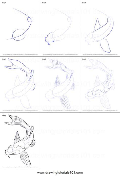 how to draw koi fish how to draw a koi fish printable step