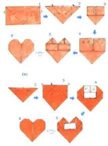 como hacer un corazon de papel facil san valentin hojas de arte origami diagramas de plegado