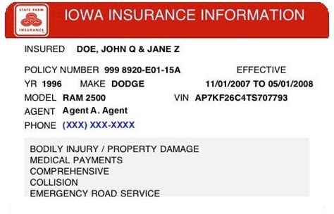 proof of insurance card template state farm temporary insurance card listmachinepro