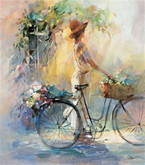painting happy bike peintures willem haenraets peintures poteries