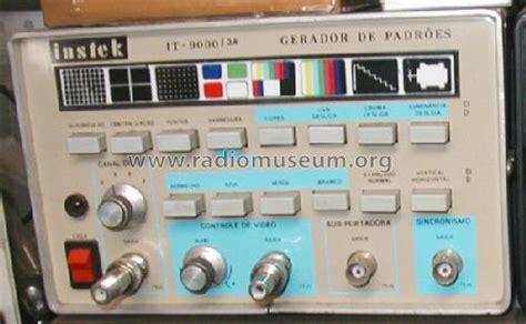 color pattern generator color bar pattern generator it 9000 3a equipment instek
