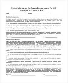 Patient Confidentiality Agreement Template by Doc 600730 Patient Confidentiality Agreement 9