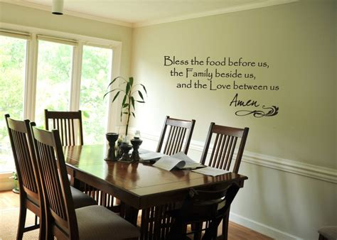 wall decal bless the food before us quote prayer