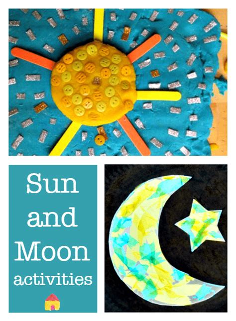 sun and moon crafts for space theme archives nurturestore
