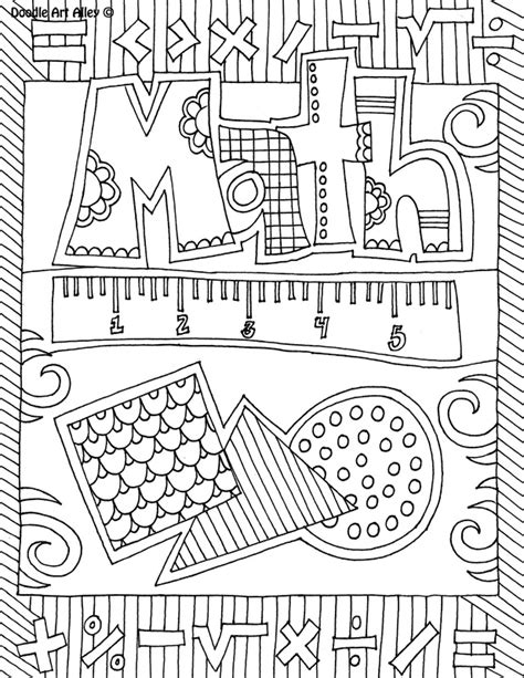 doodle your math book subject cover pages coloring pages classroom doodles