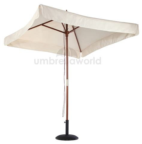 2x2 metre Wood parasol square frame in Natural