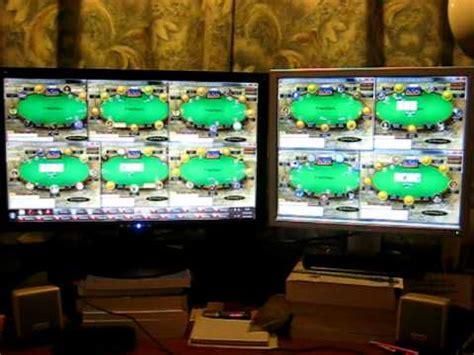 pokerstars xroshx multi tabling  nl tables  poker setup   monitors youtube