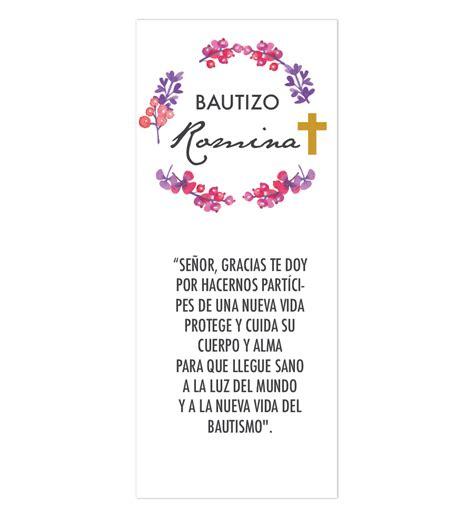 oraciones en miniatura de bautizo oraci 243 n flores bautizo dise 241 o digital listo para imprimir
