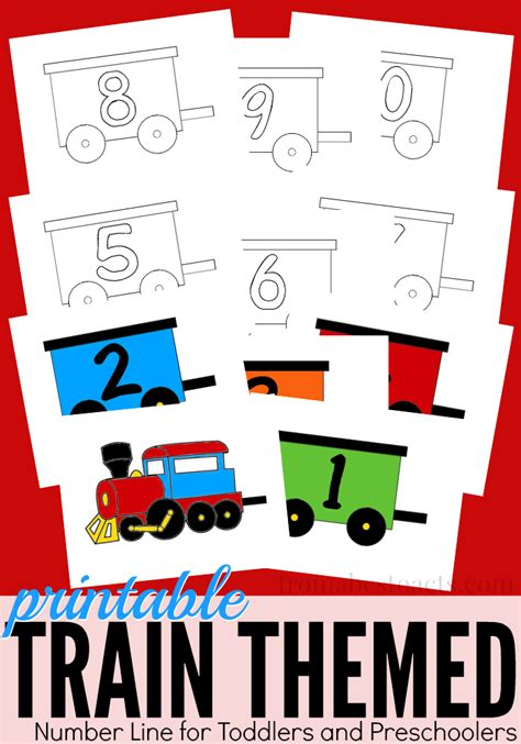 printable poster size number line free train printables and crafts
