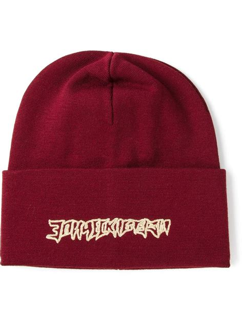 Embroidered Beanie gosha rubchinskiy embroidered beanie in for lyst