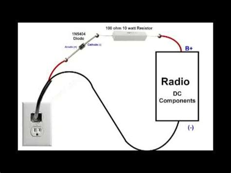 replace rectifier with diodes replace selenium rectifier antique radio