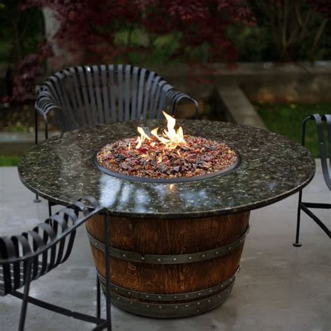 reserve wine barrel pit table granite
