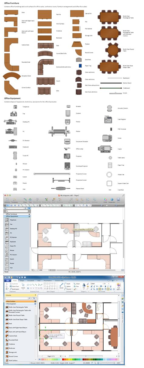 building drawing tools design element office layout plan