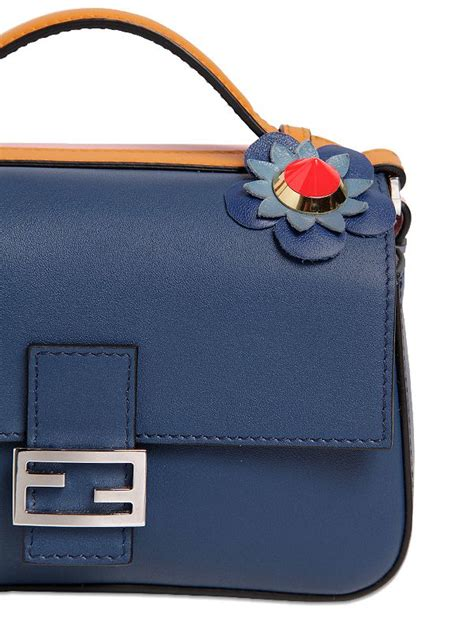 Kaos Fendi Eye fendi micro baguette leather bag in blue lyst