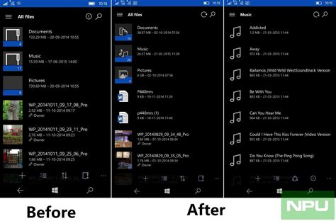apps for windows mobile windows 10 mobile onedrive app updated new folder file
