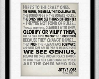 printable steve jobs quotes popular items for crazy on etsy