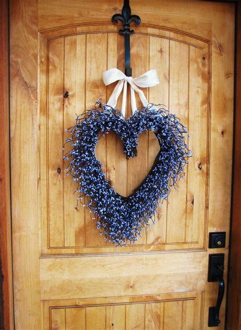lavender scented heart wreath front door wreath summer