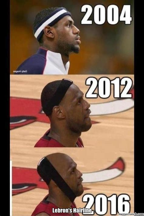 Lebron Hairline Meme - lebron s hairline