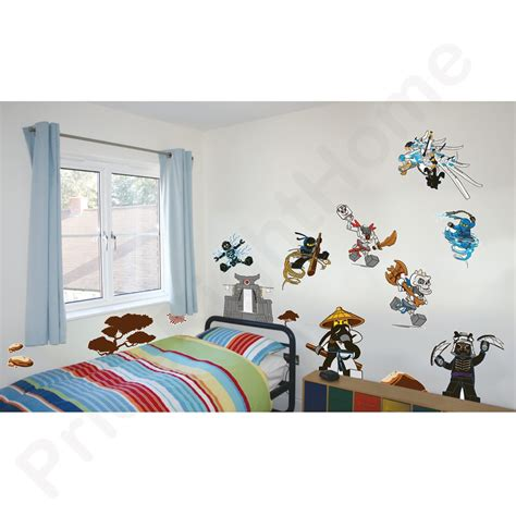 lego wall decals for rooms lego ninjago wall stickers official new 25 pieces room decor ebay