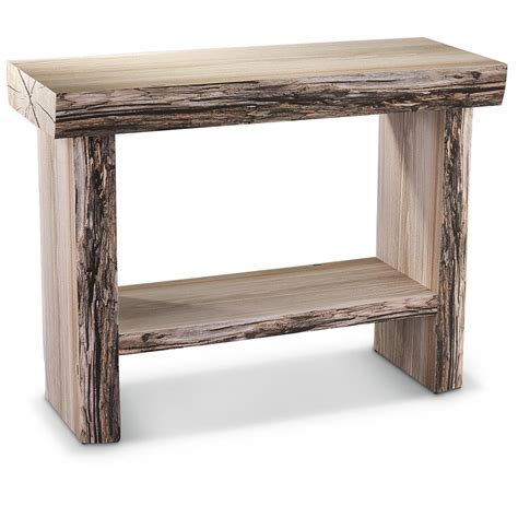 tree trunk table l castlecreek tree trunk console table 664331 living room