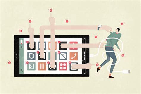 Digital Detox Illustrations by Simple Digital Detox Tips Can Curb Cellphone Addiction Habits