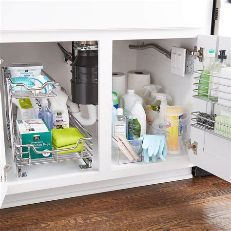 Kitchen Sink Store by Polytherm The Cabinet Basket The Container Store
