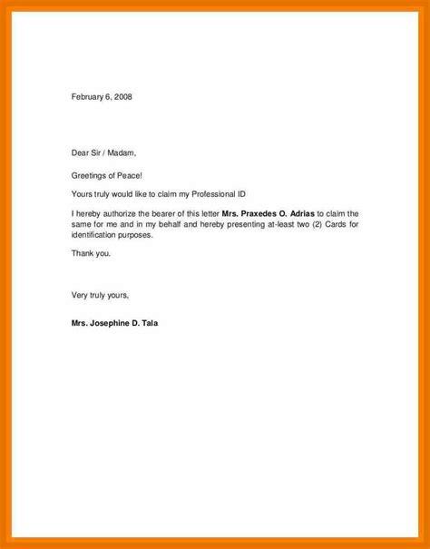 authorization letter format to encash check authorization letter encash check resume cover letter