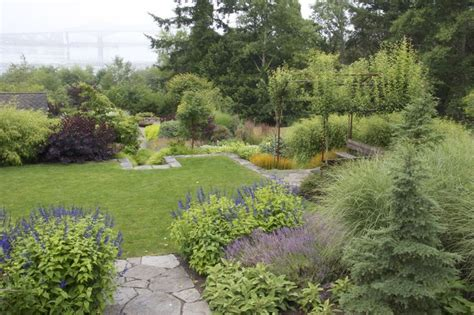 garden at large home on the oregon coast garden design pinterest gardens fire pits and arbors