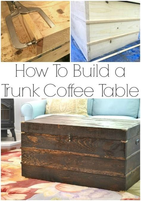 trunk coffee table plans trunks make your and make your own